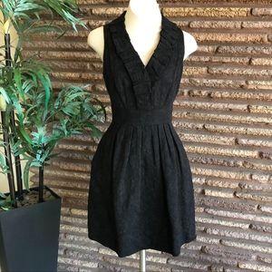 Taylor Black Brocade Fit & Flare Dress